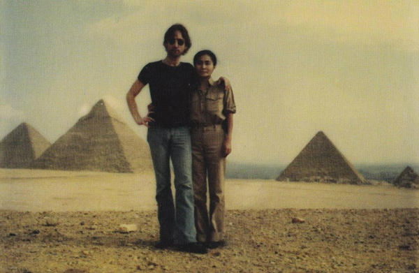 Lennon and Ono in Egypt, 1997.